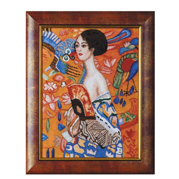 """Гоблен """"Дама с ветрило""""- по картина на Густав Климт"""