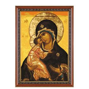 "Гоблен ""Икона Богородица с младенеца"" - DMC конци"