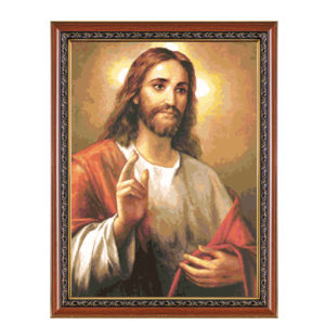 """Гоблен """"Исус"""" - DMC конци"""