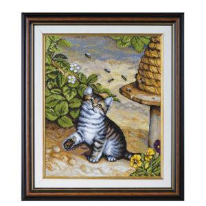 """Гоблен """"Коте и пчели"""" - по картина на Франк Пейтън"""