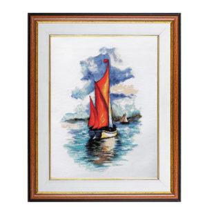 "Гоблен ""Червени платна"" - по картина на Николинка Димитрова"