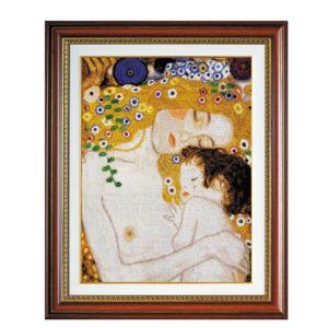 """Гоблен """"Майка и дете""""- по картина на Густав Климт"""