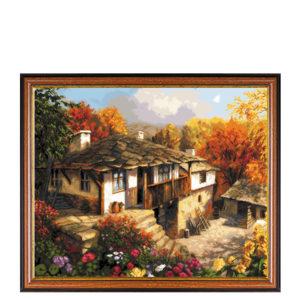 Гоблен Селски двор - Божидар Чантарски