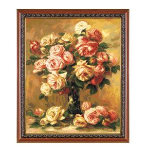 Гоблен Ваза с рози - Реноар