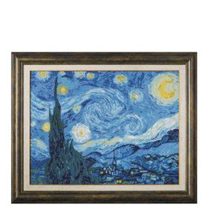 "Ушит гоблен ""Звездна нощ""- худ. Винсент ван Гог - рамкиран гоблен, конци DMC"