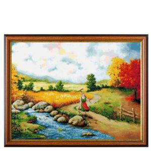 """Гоблен """"Златото на Добруджа""""- по картина на Оги Новаков - конци DMC"""