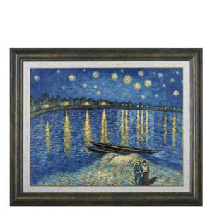 """Гоблен """"Звездна нощ над Рона"""", по картина на Винсент ван Гог - конци DMC"""