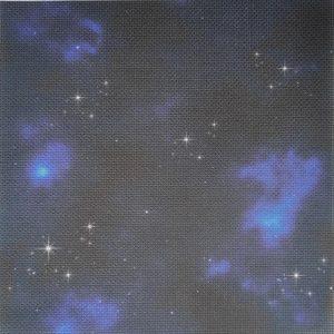 """Цветна напечатана панама Аида """"Тъмна галакти със звезди"""""""